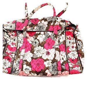 Vera Bradley Pink Floral Print Travel Duffel Bag.
